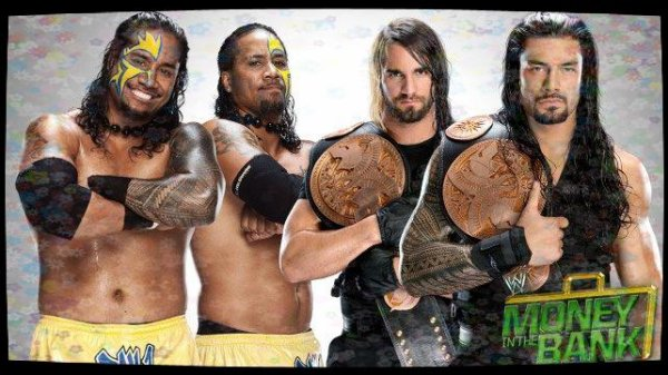 Money in the Bank 2013 - WWE Tag Team Championship, Seth Rollins & Roman Reigns vs THE USOS / Kickoff Match
