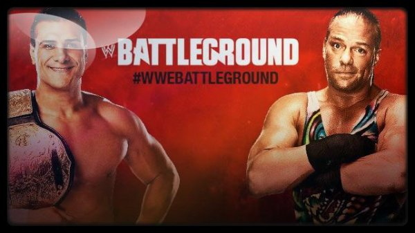Battleground 2013 - World Heavyweight Championship, ALBERTO DEL RIO vs Rob Van Dam / Battleground Hardcore Rules Match