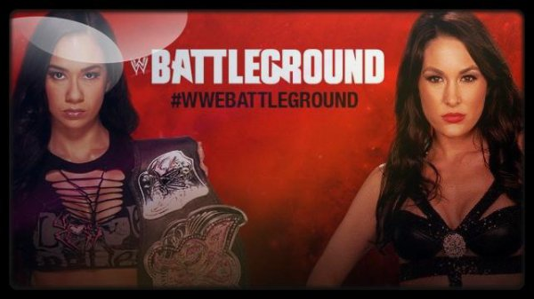 Battleground 2013 - Divas Championship, AJ LEE vs Brie Bella