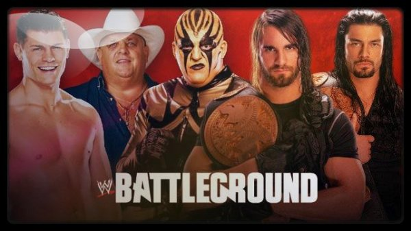 Battleground 2013 - WWE Tag Team Championship, CODY RHODES & GOLDUST vs Seth Rollins & Roman Reigns