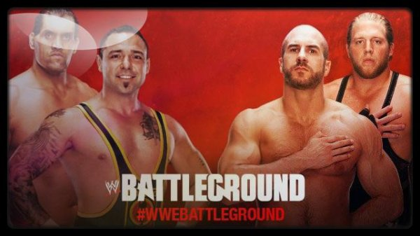 Battleground 2013 - SANTINO MARELLA & THE GREAT KHALI vs The Reals Americans
