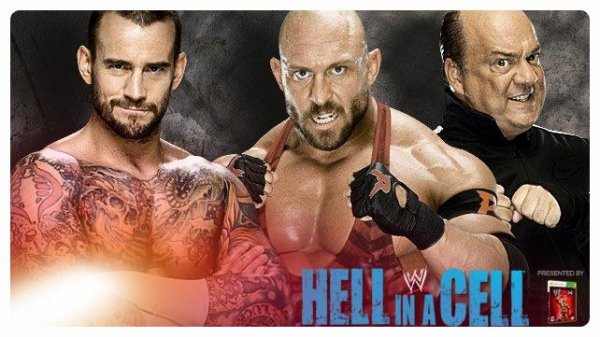 Hell in a Cell 2013 - Handicap Hell in a Cell Match, CM Punk vs RYBACK & PAUL HEYMAN