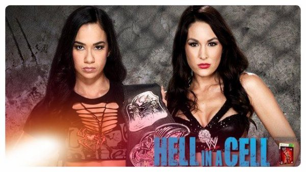 Hell in a Cell 2013 - Divas Championship, AJ Lee vs Brie Bella