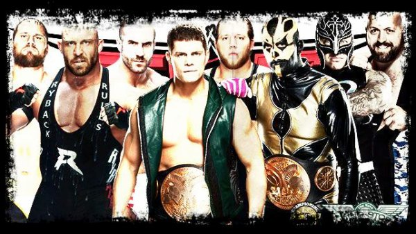 TLC 2013 - WWE Tag Team Championship, Goldust & Cody Rhodes vs Rey Mysterio & Big Show vs Ryback & Curtis Axel vs THE REAL AMERCIANS / Fatal 4-Way Match