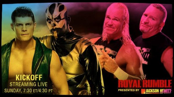 Royal Rumble 2014 - WWE Tag Team Championship Match, CODY RHODES & GOLDUST vs The New Age Outlaws