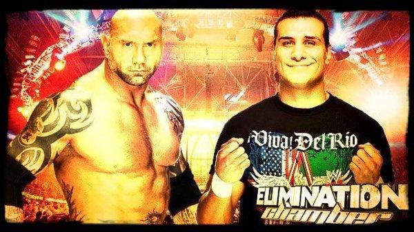 Elimination Chamber 2014 - BATISTA vs Alberto Del Rio