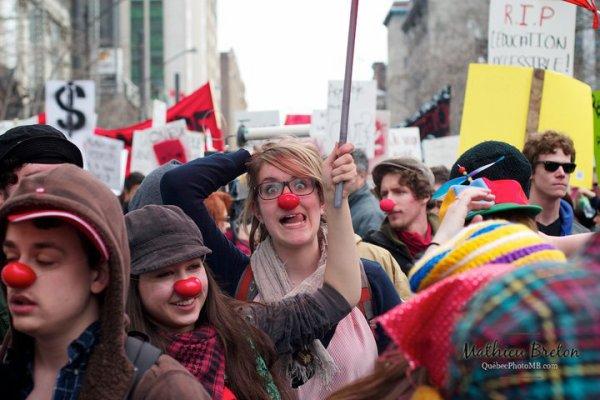 Manifestation contre les hausses de frais de scolarité du 31 Mars 2011 à Montréal