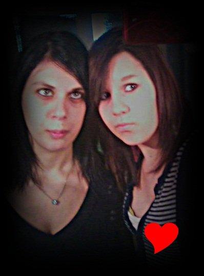 Malgrés tout les moments passé, elle est sans doutes celle qui me connais le mieux. Ma soeur, mon sang. ♥*
