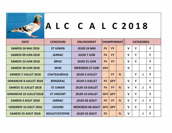 Calendrier Calc 2018 La Vie De Mes Coulons