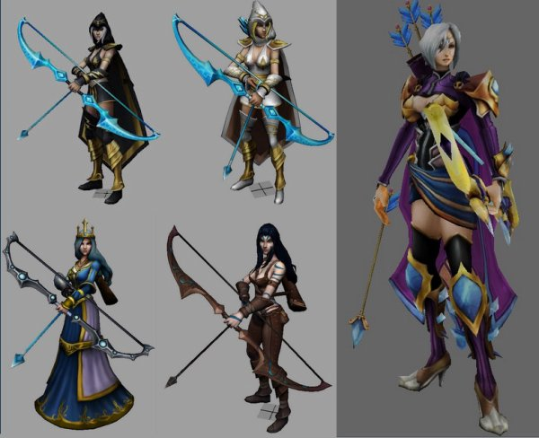 Ashe de League of Legend et ses skins