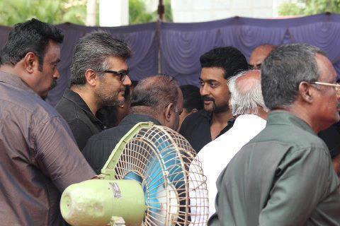 Surya,Ajith Met @ Hunger Strike