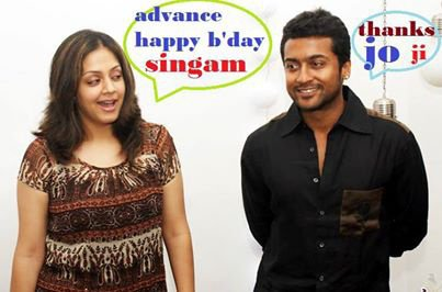 Cute JO Wishing Smart Surya Happy Bday #Suriya38