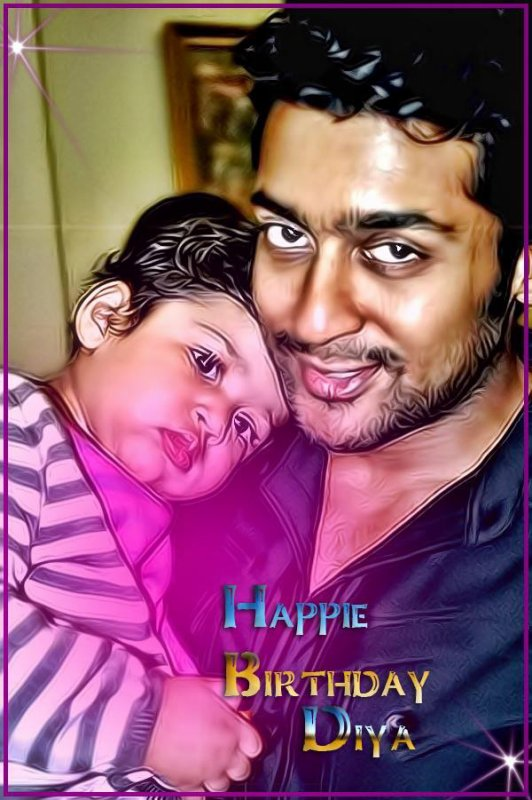 #Surya and his #Daughter #Diya Kutty