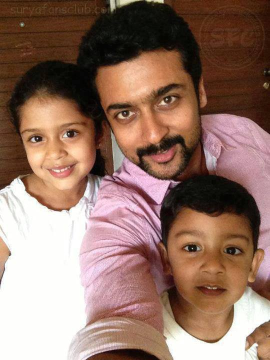 #Self Click by #Surya with his #Kids