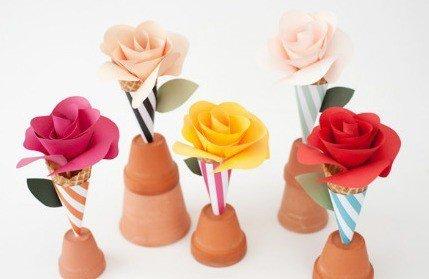 DIY Ornaments Handmade Paper Roses Tutorial