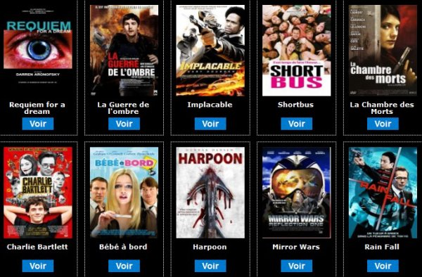 Des centaines de films à voir sur Myskreenvod