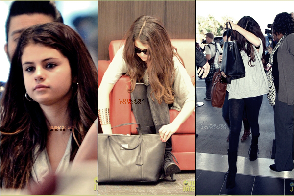 11/11/12 - Selena a été aperçue à l'aéroport de NYC. Je lui donnerai un TOP j'aime beaucoup comment elle est habillée.