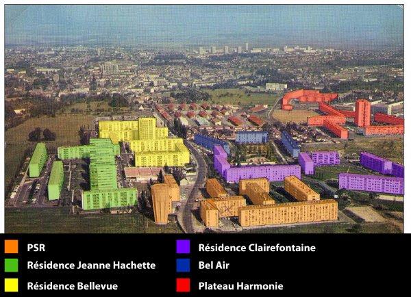 Quartier Saint Jean à Beauvais: Les secteurs autrefois