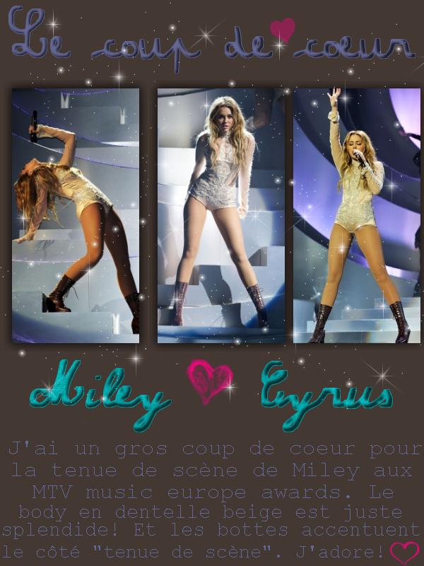 * RUBRIQUE: Le coup de coeur     /      SUJET:Miley Cyrus  *