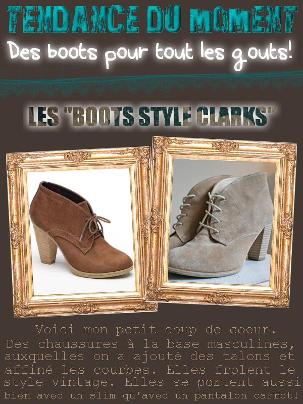 * RUBRIQUE: Tendance du moment     /      SUJET: Les BOOTS  *