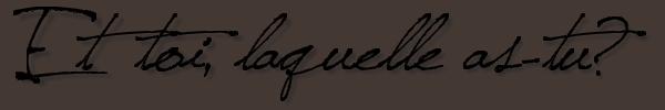 * RUBRIQUE: Must Have     /      SUJET: La doudoune  *