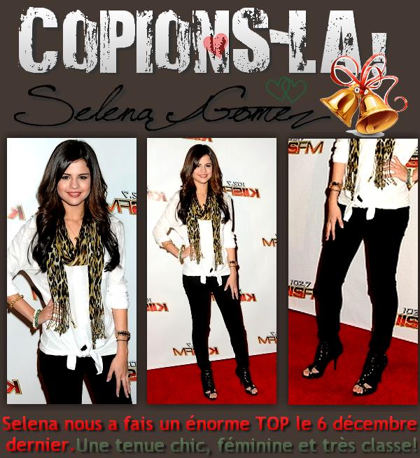 * RUBRIQUE: Copions-la!     /      SUJET: Selena Gomez  *