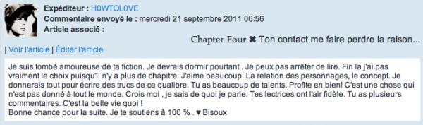 Chapter Five ✖ J'suis ptêtre bonne, mais pas conne.