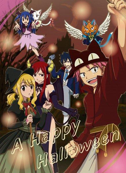 Fairy tail version Halloween!!!!