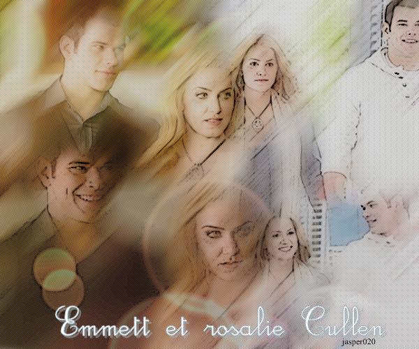 Emmett et rosalie Cullen