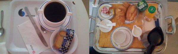 Mon petit déjeuné aprés mon opération