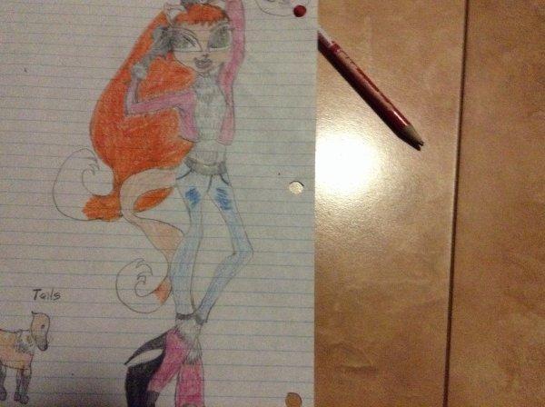 Pour le concours de dessin de DreamMonsterhigh:Sweetie Fox