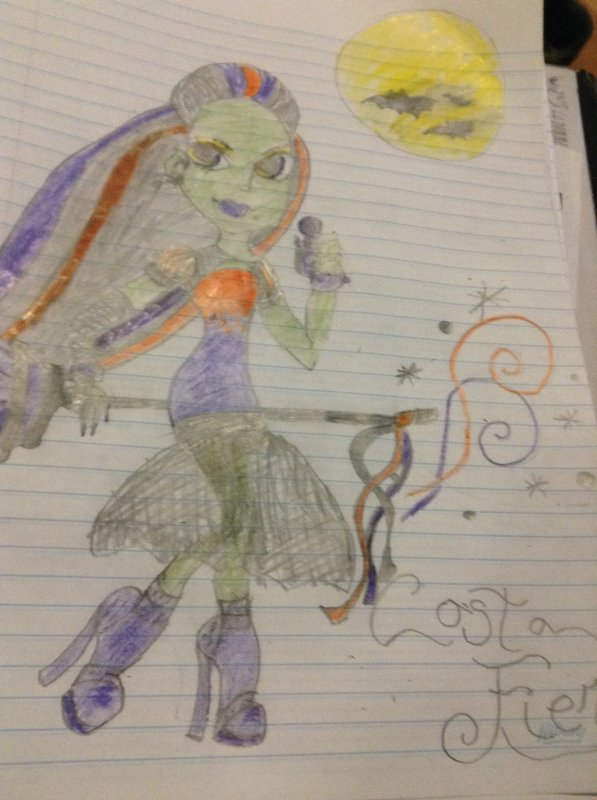 Dessin de Casta Fierce monster high