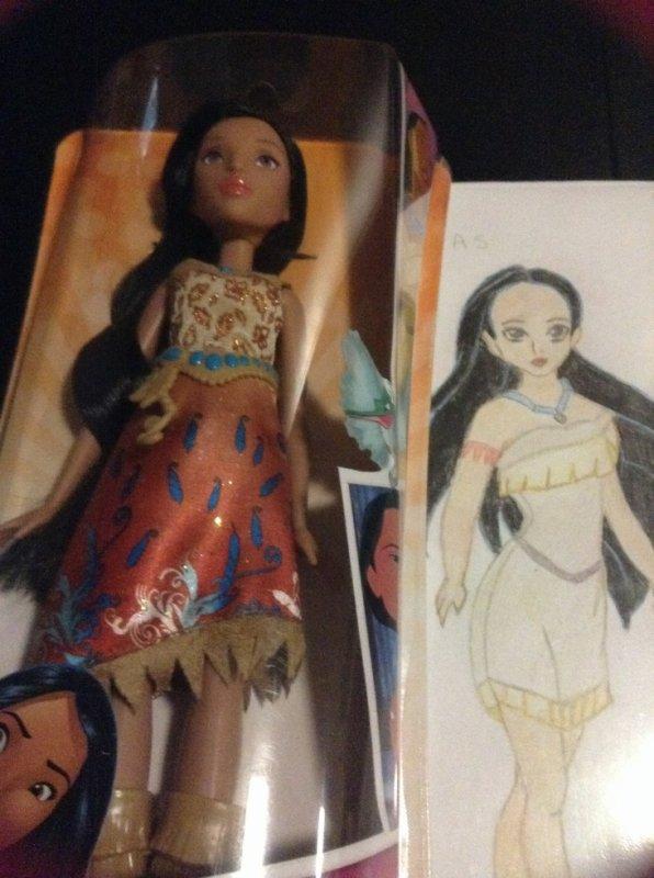 Royal shimmer Pocahontas par hasbro