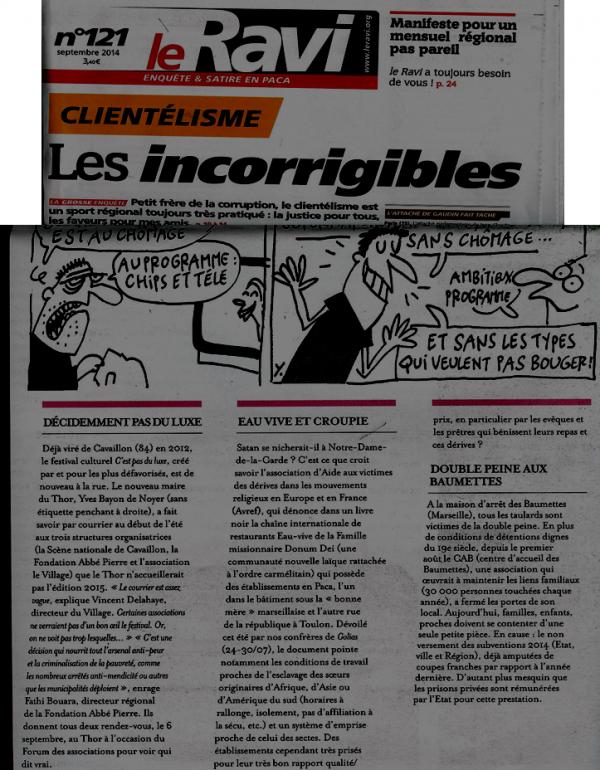 un article du journal satirique