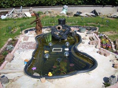 Realisation de mon bassin aquatique mes gateaux sans for Bassin poisson 250 litres