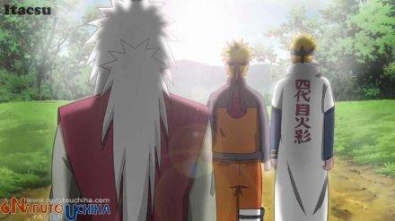 Jiraya,Minato et Naruto