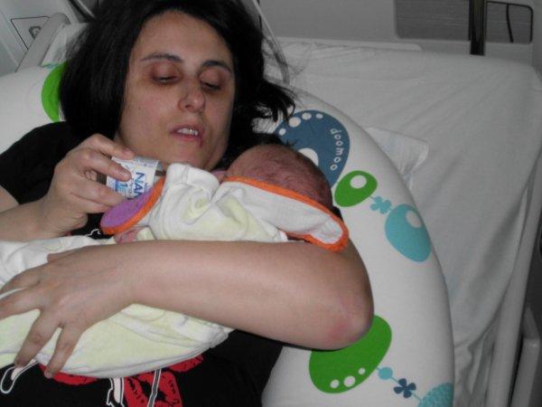 premier bibron avec sa maman :))