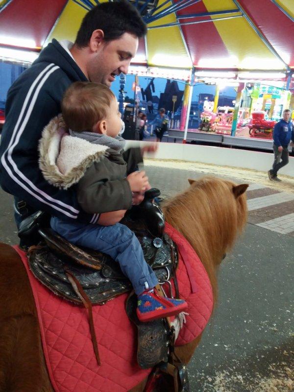 mon fils au ponet avec moi