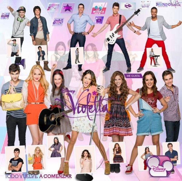 Violetta 2 : Nuevo y Nueva Personajes de Violetta