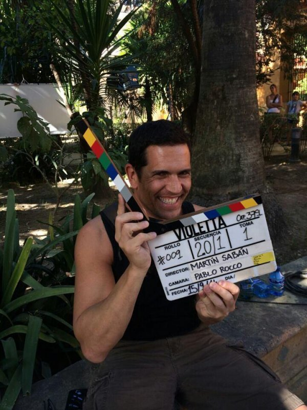 Diego ramos sur le Tournage de Violetta 3