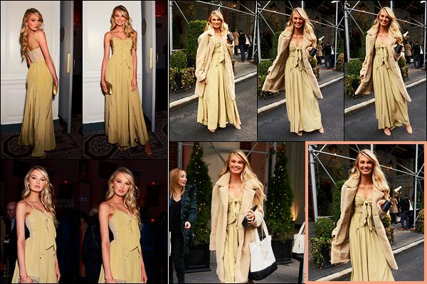 06/04/18 - Romee Strijd était à la cérémonie des Fragance Foundation Awards dans - New York City.La belle Romee a été vue à la sortie avec son prix du Visage de l'année, bien mérité pour notre poupée ! J'accroche sans plus à la robe... et vous ?