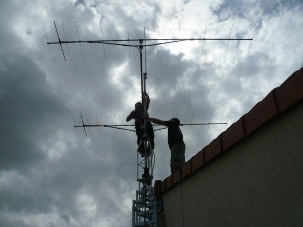 montage du pylone et antennes