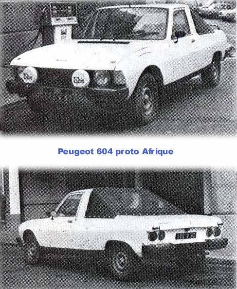 PEUGEOT 604 Pick-Up