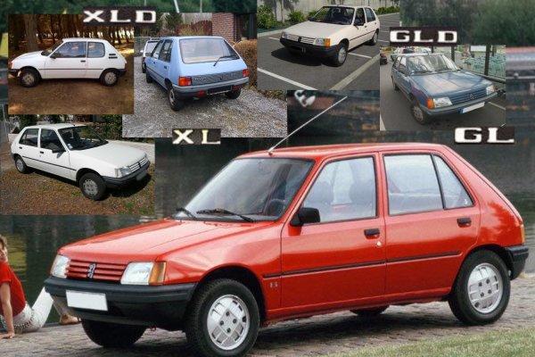 Peugeot 205 Gl    Xl Et Gld    Xld