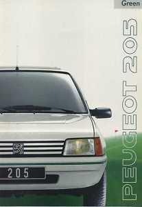 PEUGEOT 205 Green