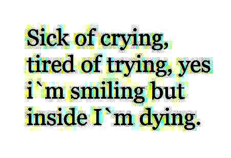 La douleur...
