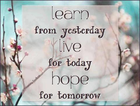 Rêve comme si tu vivais éternellement, vis comme si tu devais mourir aujourd'hui.