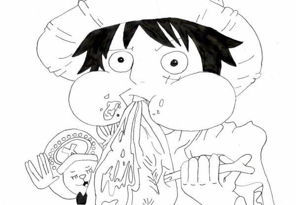 Dessin One Piece Monkey D Luffy Et Tony Tony Chopper 2