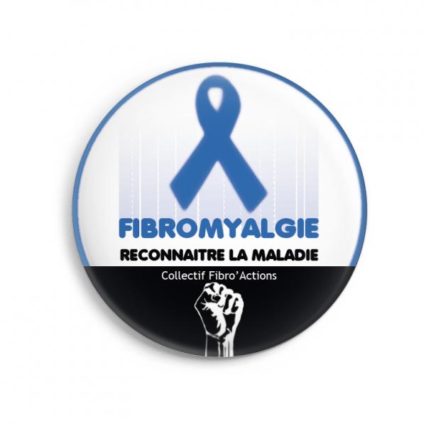 Badge pour soutenir FibroAction