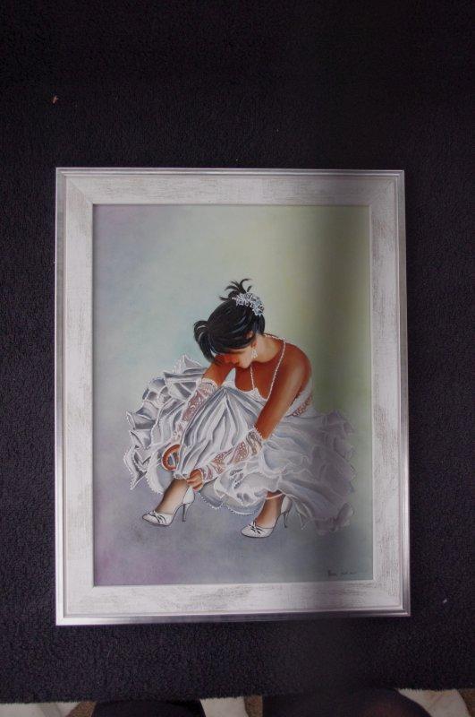 Danseuse sur plaque encadrée